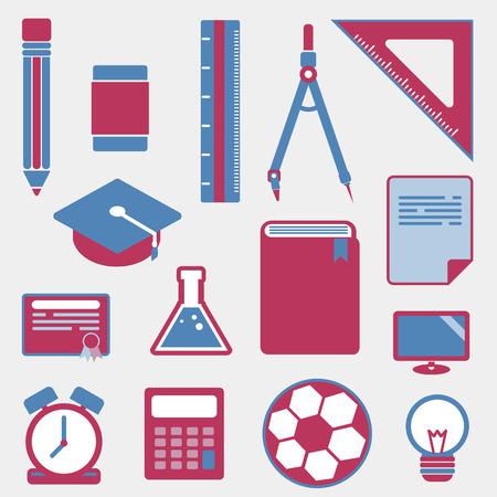 education icons on white background