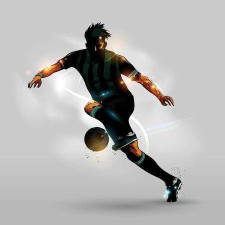 抽象的なサッカー ボールを実行しています。