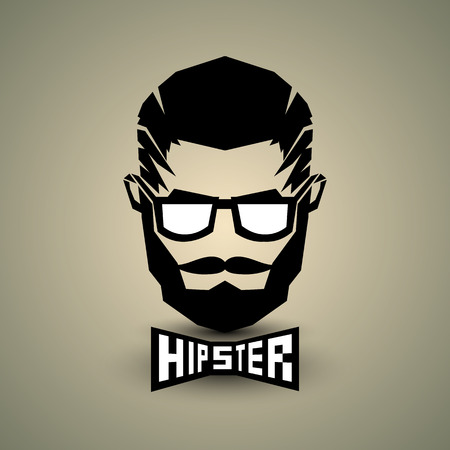 Black hipster sign with text design on background