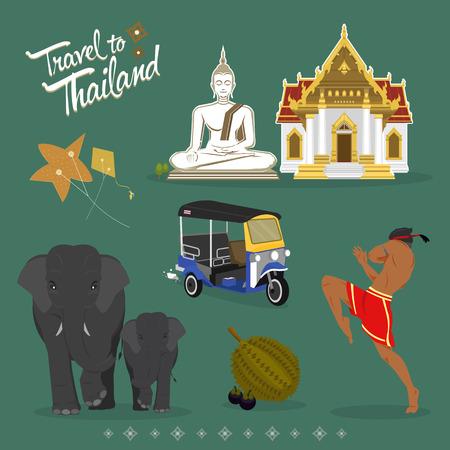 旅行タイ記号の背景が緑色に