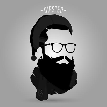 Santa hipster symbol design on gray background