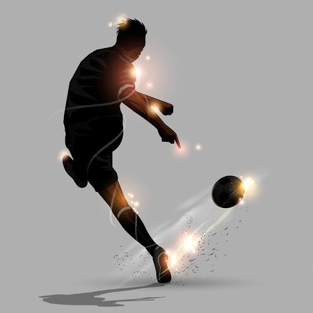 サッカー ボールの撮影速度を抽象的なサッカー