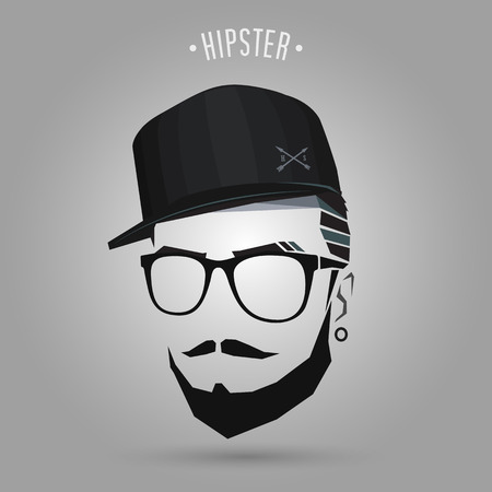 Young hipster wearing cap design