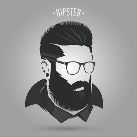 hipster men winter style on gray background Banco de Imagens - 88187281