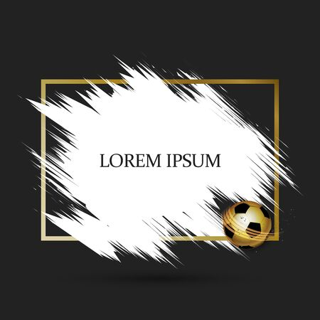 Gold soccer frame with white brush space for text design