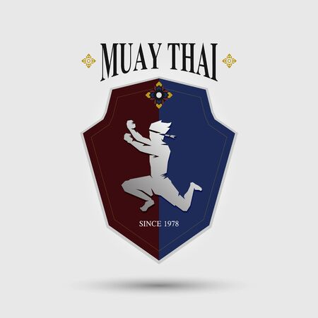 Muaythai logo for gym and team sport design Banco de Imagens - 131898400