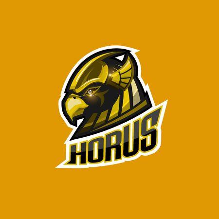 Horus esport logo for sport team and club design Ilustração