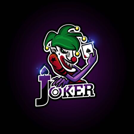 Joker esport logo design for sport team and club