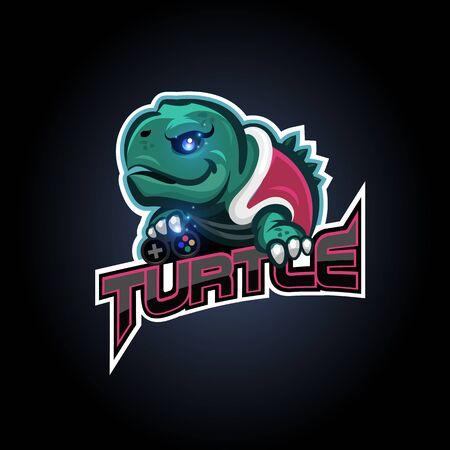 turtle esport logo design for sport team, club