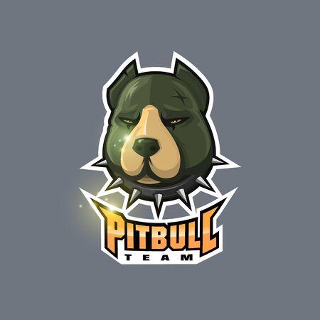 pitbull esport logo for club and team sport design Ilustração
