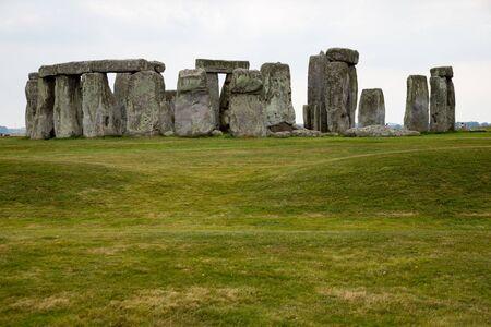 Stonehenge, Salisbury, Wiltshire England Standing neolithic stones Stockfoto