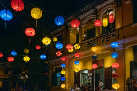 Hoi An Vietnam famous for lanterns and river and holiday destination heritage