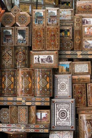 The Al-Hamidiyah Souq, Damascus Syria 04/12/2009 inlaid boxes the main market Editorial