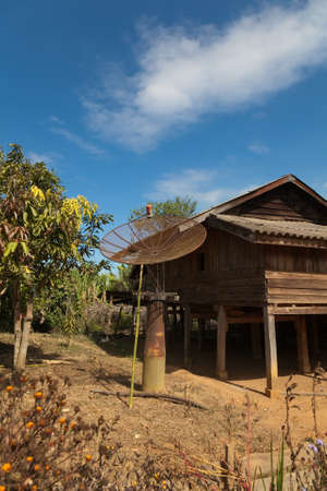 Ban Napia Laos houses in village makes spoons from bombs after from Vietnam war