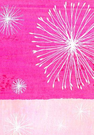 shin: Contemporary abstract christmas illustration - starburst fairy lights