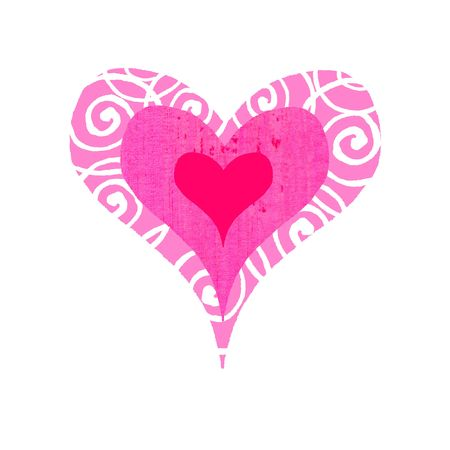 Contemporary valentines illustration of a groovy, bullseye heart Stock Illustration - 289012