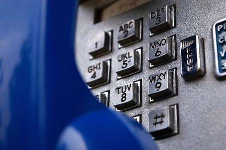 公衆電話のマクロ 写真素材