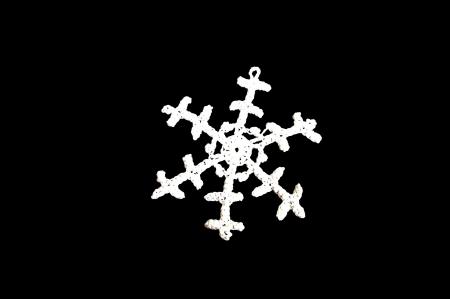 White snowflake on a black background Stok Fotoğraf
