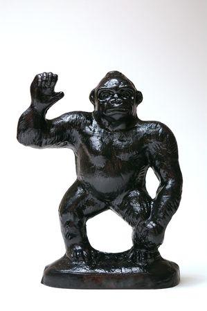 gimmick: Black plastic gorilla statue
