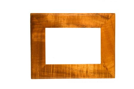 Acacia Koa picture frame Stock Photo