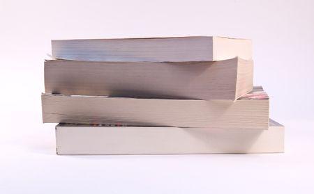paperback: Stack di quattro libri in brossura Archivio Fotografico