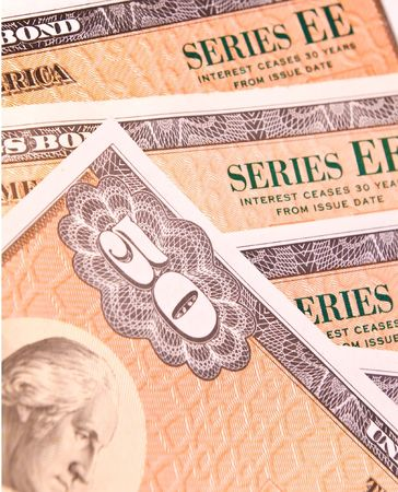 ee: Group of $50.00 EE US Government savings bonds