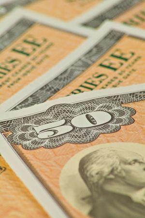 ee: Image of US $50.00 EE savings bonds