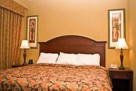 bedspread: High end hotel room
