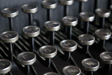 Old fashioned typewriter keys Imagens