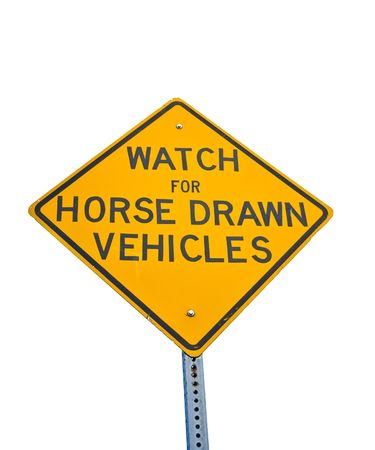 Warning sign for horse-drawn vehicles