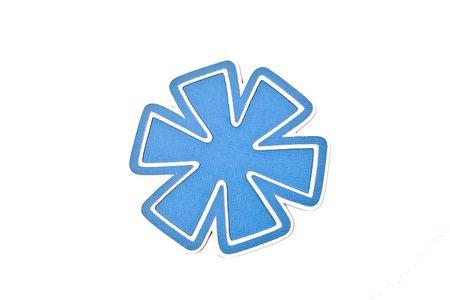 Blue asterisk flower accent Imagens