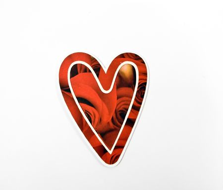 Red patterned Valentine's Day heart Imagens