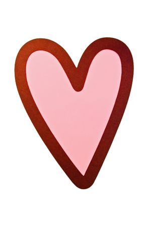 Pink and brown Valentine's Day heart Imagens