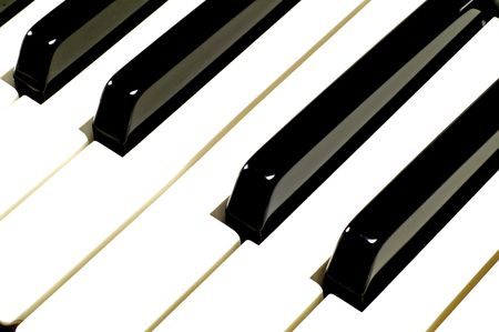 Macro image of black and white piano keys