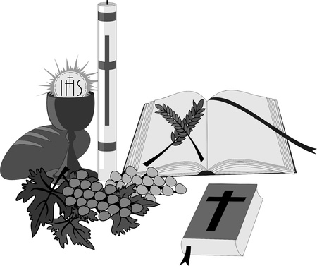 sacrament: Symbols and religious objects