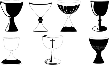 Chalice used at Mass in Christianity Vector