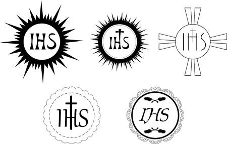 cat�licismo: Pan sacramental utiliza durante una misa en el catolicismo Vectores