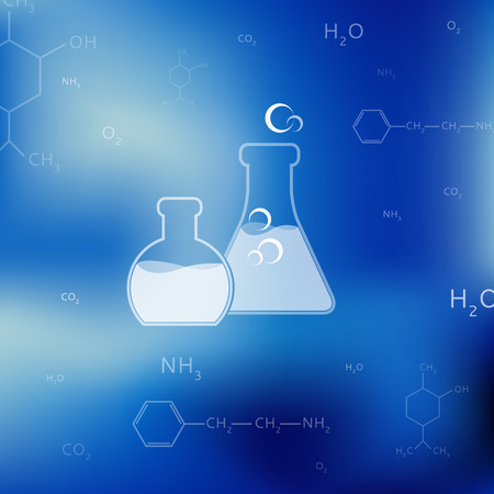 chemistry: Vector science, chemistry icon for design and background