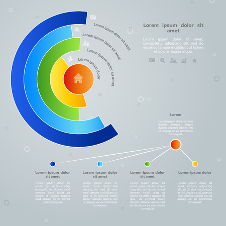 chart vector: Vector colorful info graphic elements, background for web design, diagram, work flow or presentation and info graphic.