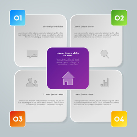 work flow: Vector colorful info graphic elements, background for web design, diagram, work flow or presentation and info graphic.