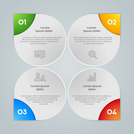 web design elements: Vector colorful info graphic elements, background for web design, diagram, work flow or presentation and info graphic.