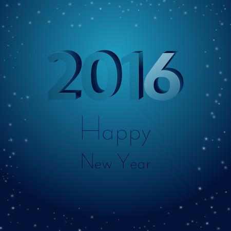 Happy New Year 2016. Galaxy star background