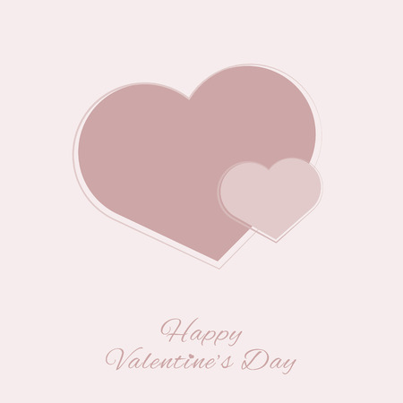 Red heart, love, Valentines day heart with text on light pink background