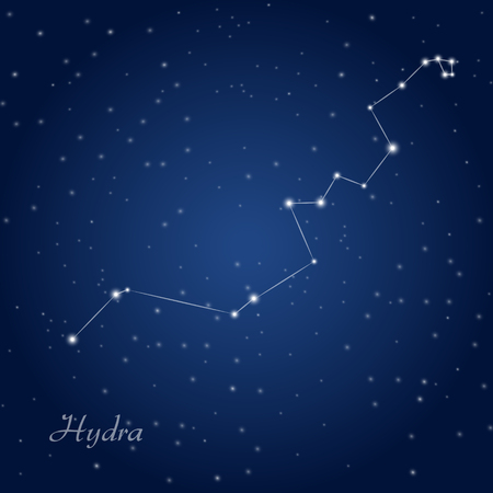 Hydra constellation at starry night sky