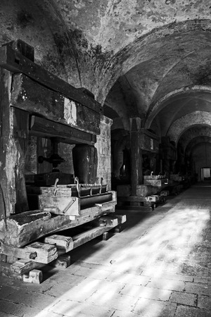 winepress: winepress in a cloister