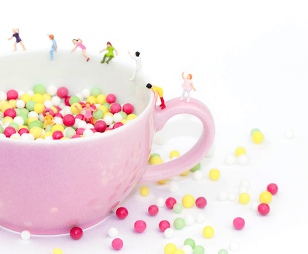 ball pit in a pink cup