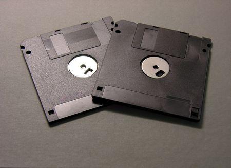 Two Floppy Disks