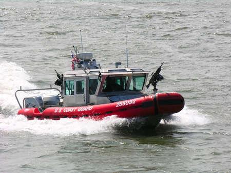 coast guard: A US Coast Guard Patrol Boat Stock Photo
