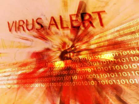 Computer virus alert Stock Photo - 371686