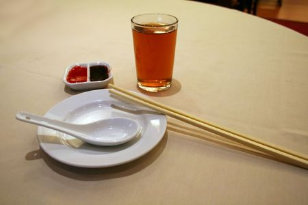 Chinese tea, in a restaurant setting Stock Photo - 383580